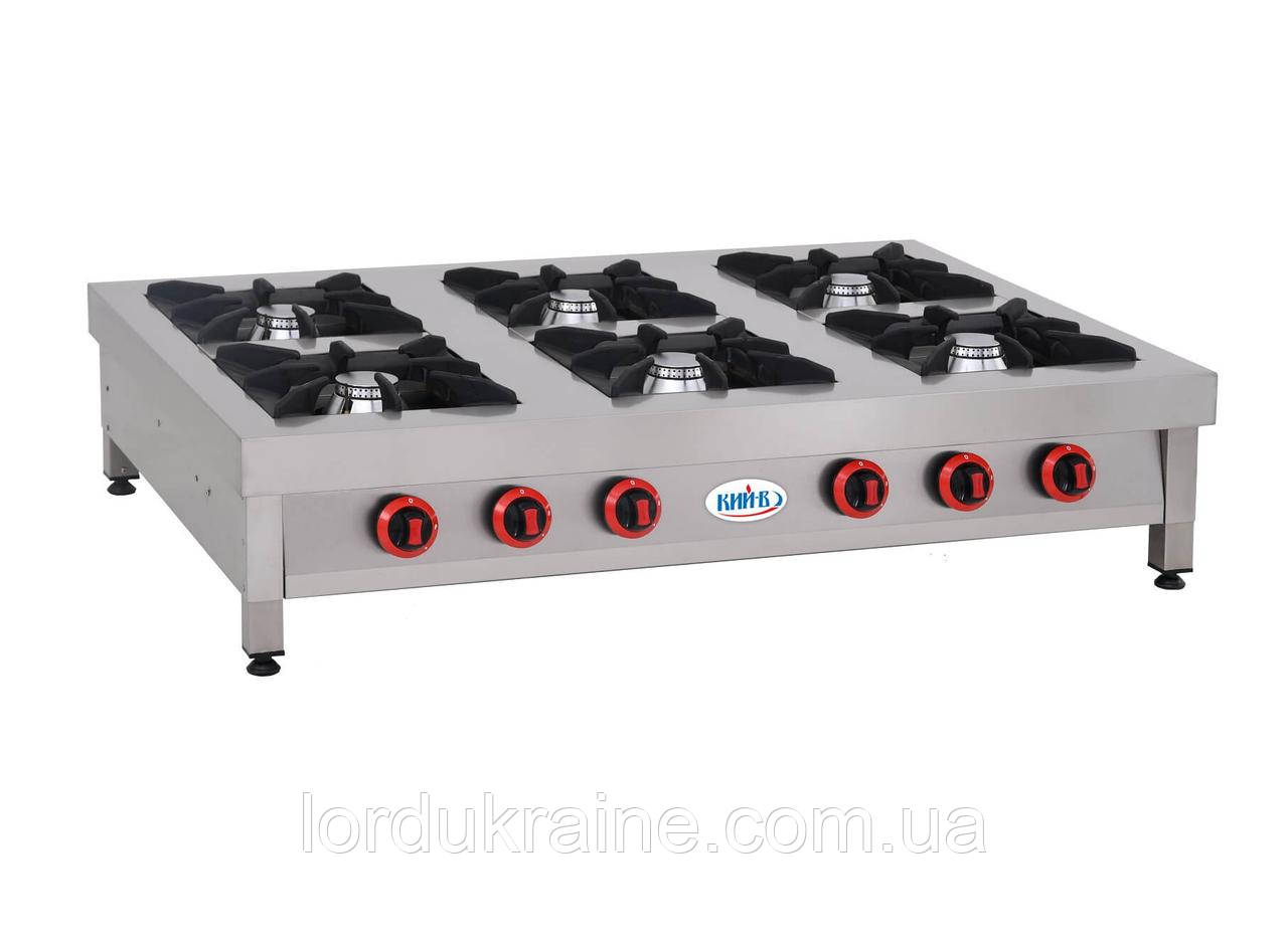 Плита газовая профессиональная ПГ-6Н-Б Кий-В