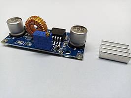 Понижающий преобразователь DС-DC XL4015 5А от 8-36 В до 1.25-32В регулировка напряжения с радиатором