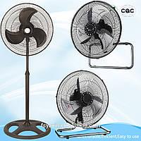 Вентелятор, 3в1, вентелятор напольный, вентелятор настольный, вентелятор настенный, мощный, качественный