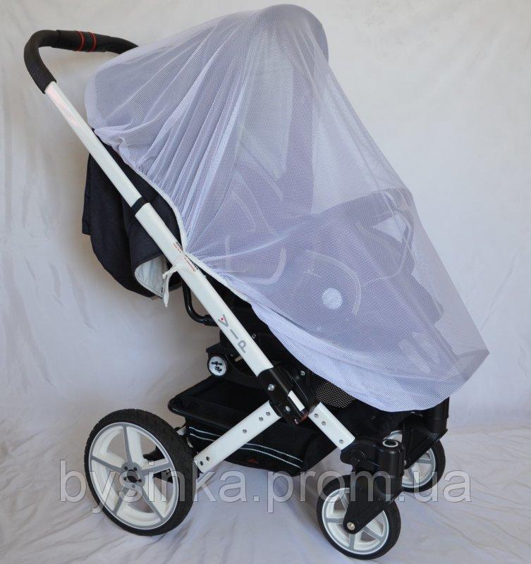 Очень большая 140х65 антимоскитная сетка универсальная для детской коляски прогулки люльки любых размеров 3966