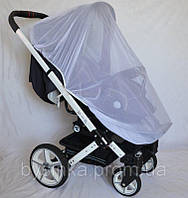 Очень большая 140х65 антимоскитная сетка универсальная для детской коляски прогулки люльки любых размеров 3966, фото 1