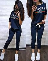 Летний Костюм в стиле Gucci БОТАЛ, футболка и капри больших размеров. Цветов и размеров МНОГО....
