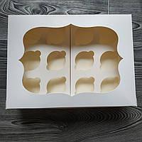 "Коробка ""Белая"" с окошком для 12-ти кексов"