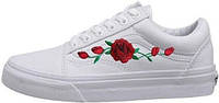 Женские кеды Vans Old School Roses White