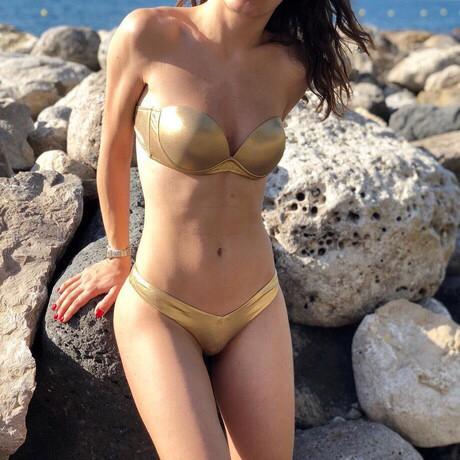 Женский раздельный купальник бандо S