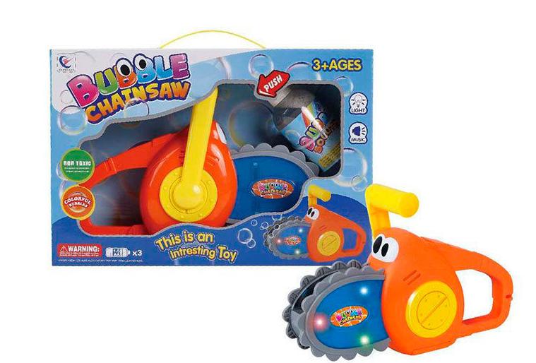 Пила с мыльными пузырями со световыми и звуковыми эффектами, в коробке