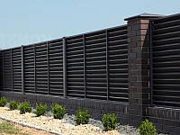 Забор-жалюзи металлический 80/90 Престиж полиестер 0.8 мм (1,5-2,5 м)