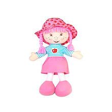 Мягконабивная кукла с вышитым лицом Яблочкина, розовая, 36см «Devilon» (31814-3)