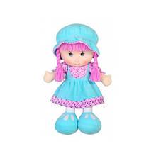 Мягконабивная кукла в юбочке, голубой, 36 см «Devilon» (53514-2)