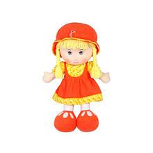 М'яконабивна лялька в спідничці, червона, 36 см «Devilon» (53514-3)