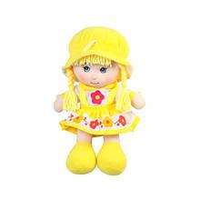 М'яконабивна лялька в шапочці, жовта, 36 см «Devilon» (52314-2)