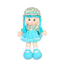 М'яконабивна лялька з вишитим особою, блакитна, 36см «Devilon» (51514-2)