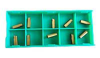 Набор сменных пластин для отрезного резца из 10шт. 8х8, 10х10, 12х12, 14х14, 16х16 (арт.23367СП)