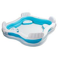 Детский надувной бассейн с сидениями  Intex 56475 229х229х46см
