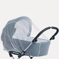 Антимоскитная сетка универсальная очень большая 140*65 на детскую коляску люльку прогулку любого размера 3966, фото 1