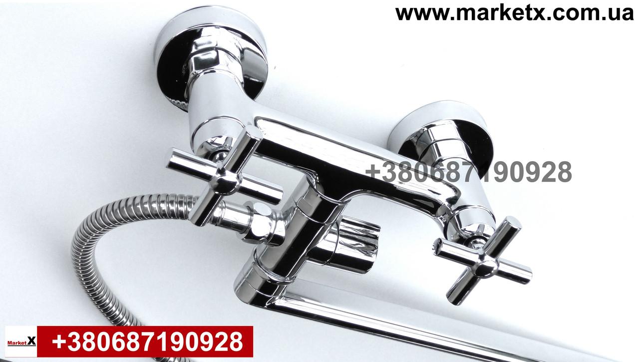 Латунный смеситель  для ванны и душа высокое качество длинный излив