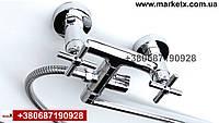 Латунный смеситель  для ванны и душа высокое качество длинный излив, фото 1