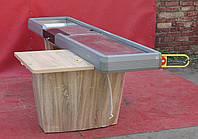 Кассовый бокс c узким накопителем 250х100 см., желтый/правый (Украина) Б/у, фото 1