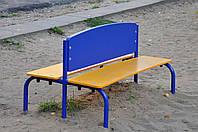 Лавка для детского сада металлическая двусторонняя  ЛСД112