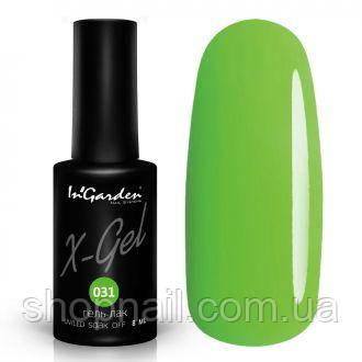 Гель лак INGARDEN X-GEL (ультра зеленый) № 031, 8 мл