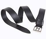 Мужской кожаный ремень Dovhani LD666-205 115-125 см Черный, фото 3