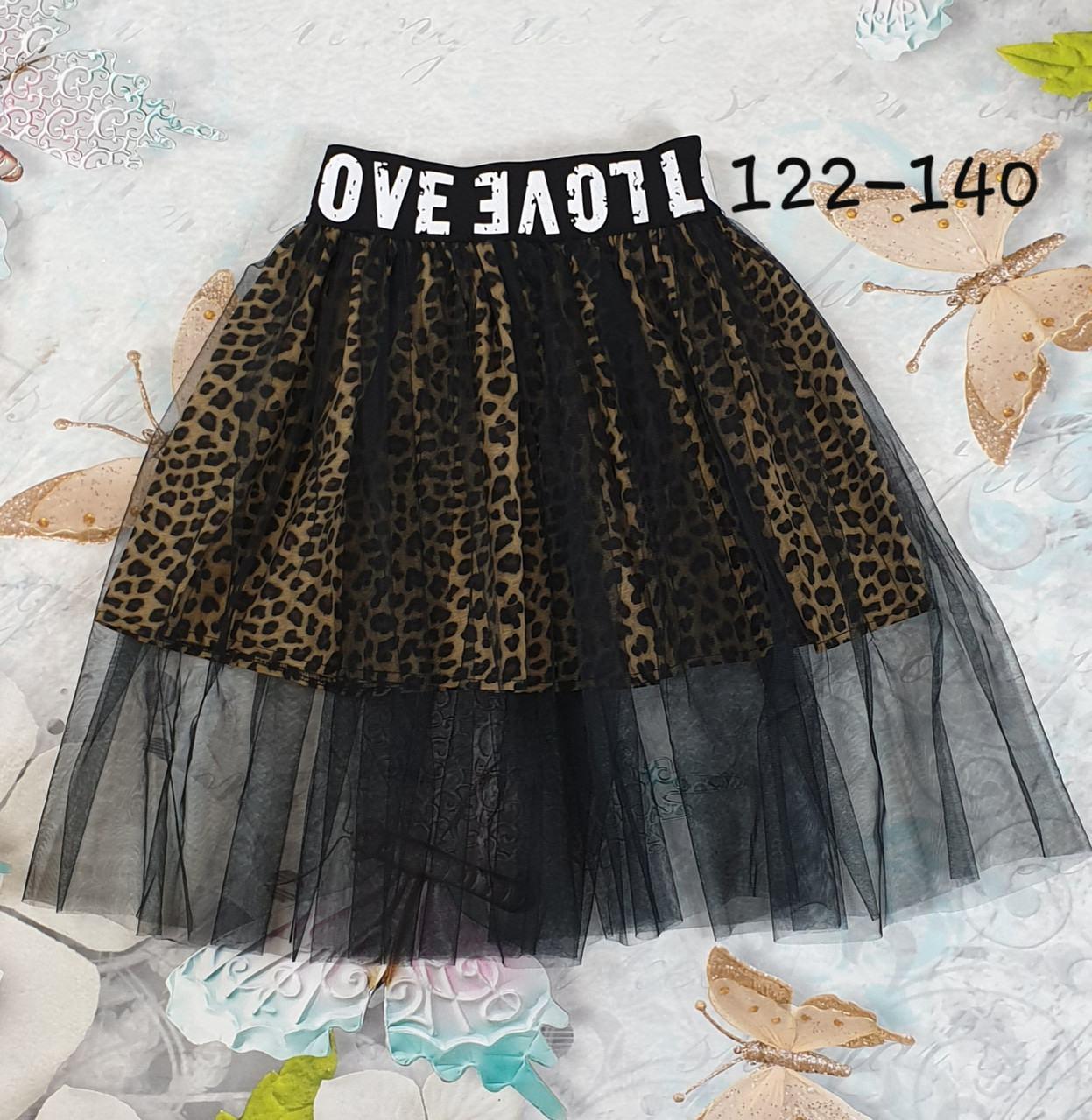 Подростковая юбка  для девочки р.122-140
