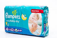 Подгузники Pampers Active Baby-Dry 4 Maxi Plus 7-14kg 58 шт, фото 1