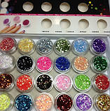 """Украшение для дизайна ногтей """"Брокард"""", цвет светло-розовый , фото 2"""
