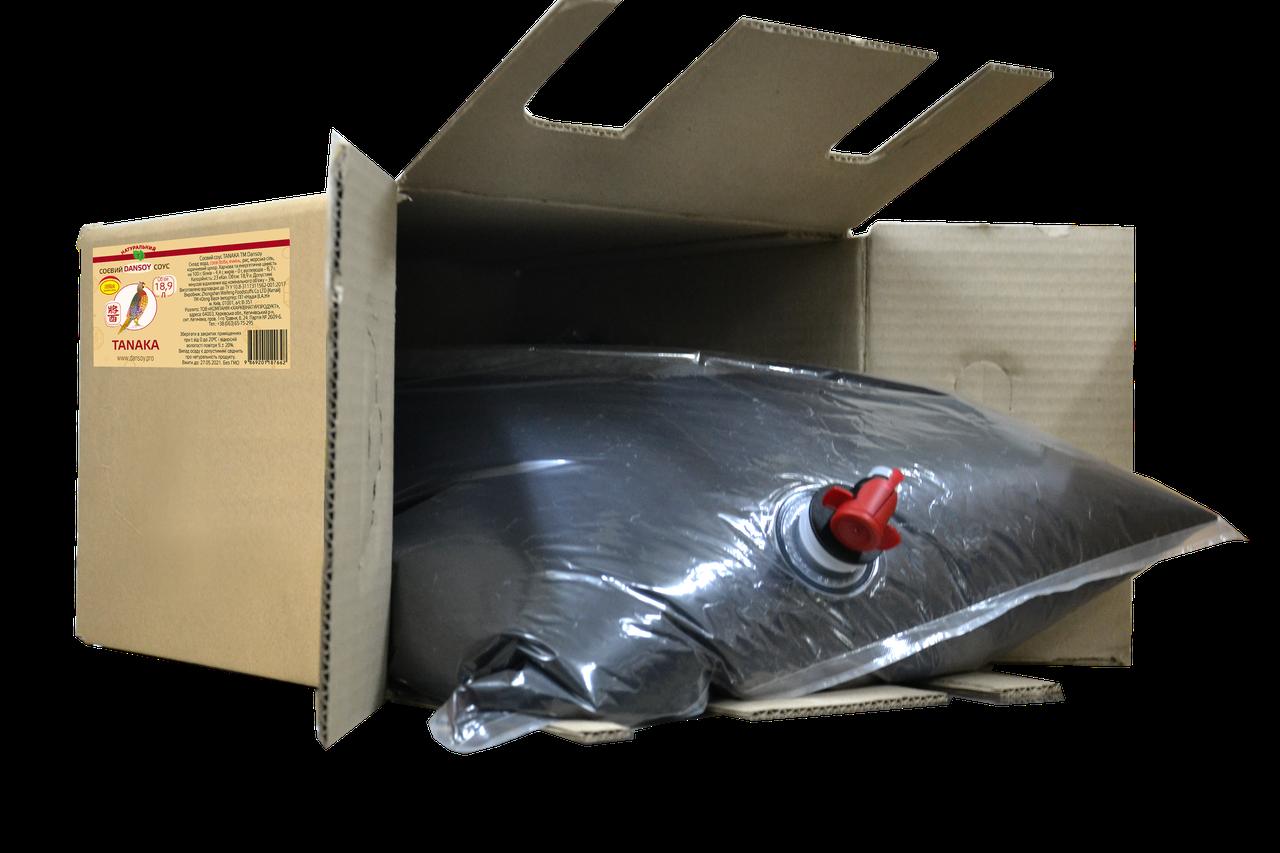 Соєвий соус Tanaka 18,9 л bag-in-box картонна коробка (ДанСой Танака) 🦑 від ТМ Дансой