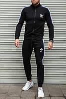 Спортивный костюм мужской в стиле Adidas Black летний / осенний