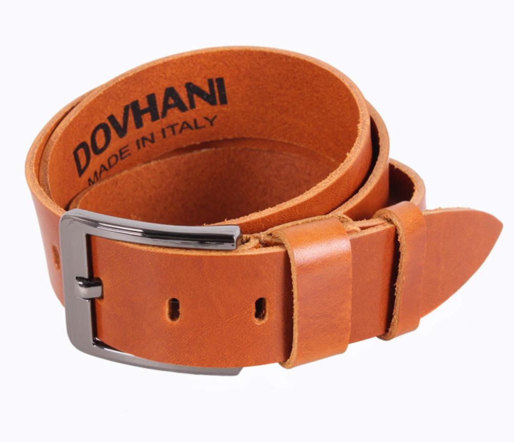 Мужской кожаный ремень Dovhani LD666-255 115-125 см Рыжий