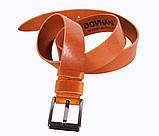 Мужской кожаный ремень Dovhani LD666-255 115-125 см Рыжий, фото 2