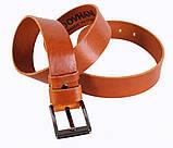 Мужской кожаный ремень Dovhani LD666-255 115-125 см Рыжий, фото 4