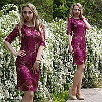 Шикарное платье из гипюра и пайеток