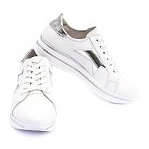 Кроссовки белые со звездами 8041, фото 2