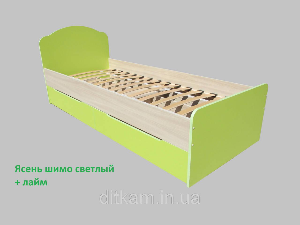 Кровать детская с шухлядами  Актив 1900х800