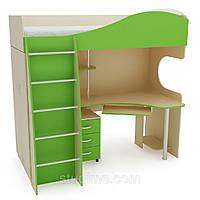 """Кровать-чердак детская со столом и шкафом  """"Забава"""""""