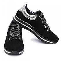 Кроссовки замшевые черные 8053, фото 3