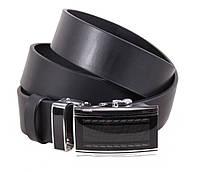 Мужской кожаный ремень Dovhani ALD666-255 115-125 см Черный
