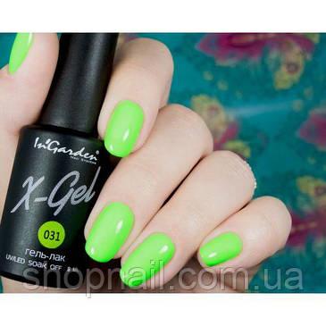 Гель лак INGARDEN X-GEL (ультра зеленый) № 031, 8 мл, фото 2