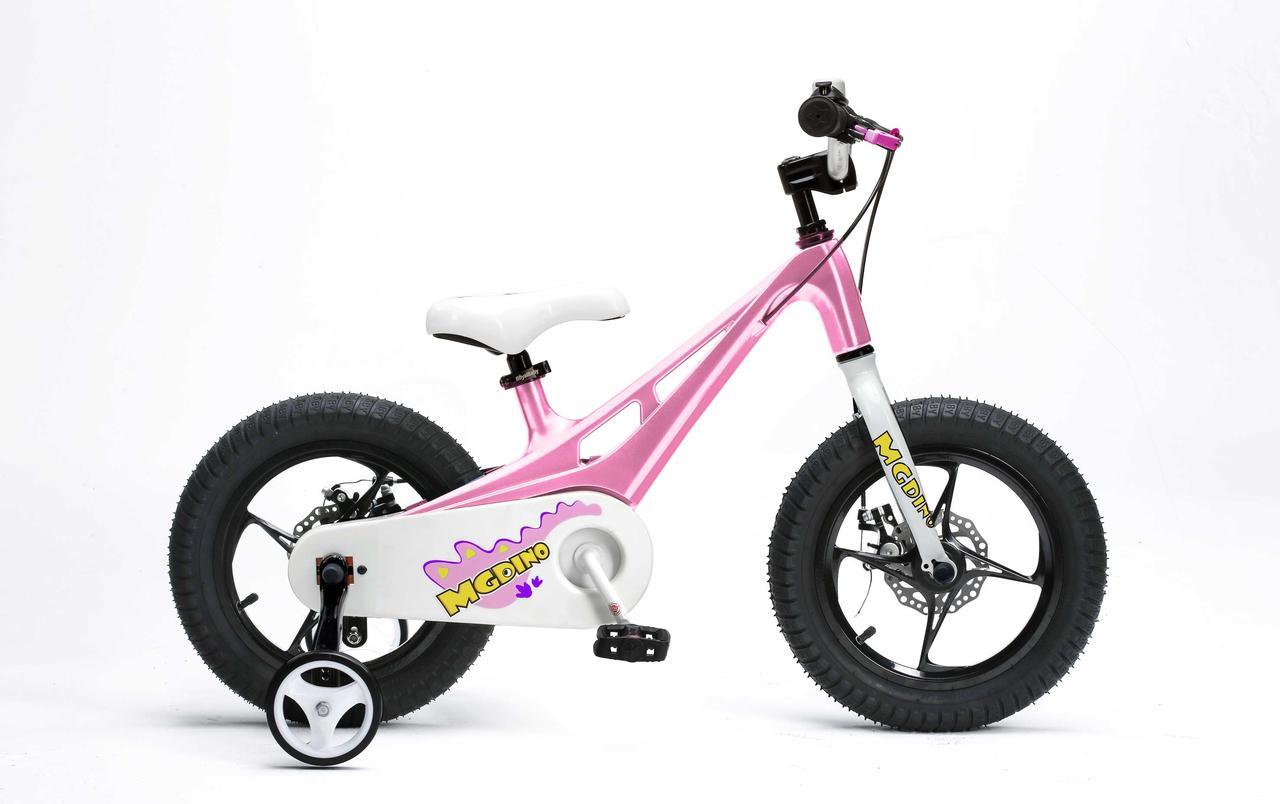 """Велосипед RoyalBaby Dino 14"""", розовый"""