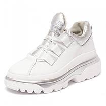 Кроссовки массивные белые 8390, фото 3