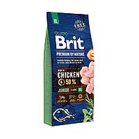 Сухой корм Brit Premium Junior XL для щенков гигантских пород, c курицей 15КГ