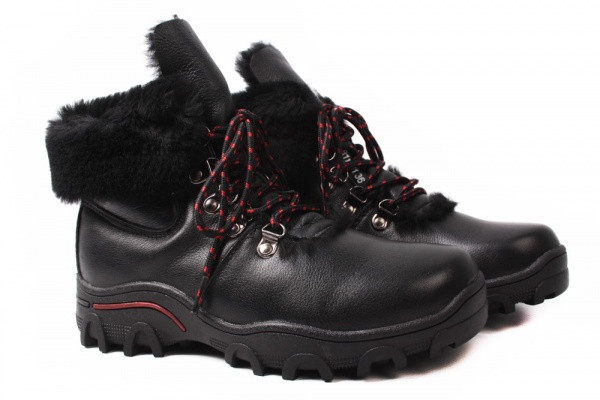 Ботинки Mego Comfort натуральная кожа, цвет черный