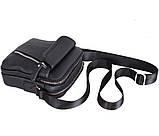 Мужская кожаная сумка Dovhani Dov-201988 Черная, фото 4