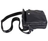 Мужская кожаная сумка Dovhani Dov-201988 Черная, фото 7