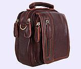 Мужская кожаная сумка Dovhani Dov-673-11 Коричневая, фото 2