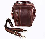 Мужская кожаная сумка Dovhani Dov-673-11 Коричневая, фото 4