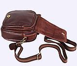 Мужская кожаная сумка Dovhani Dov-673-11 Коричневая, фото 7