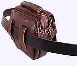 Мужская кожаная сумка Dovhani Dov-673-11 Коричневая, фото 8